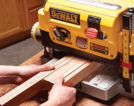 <b>Cut, plane and sand everything at once</b></br> <p>Even with a good table saw, it's difficult to exactly replicate previous cuts, so plan ahead and cut all your face frame parts at the same time. Gang-planing your stiles and rails will save time and ensure all the parts are exactly the same width and thickness. Gang-sand board edges by clamping them together. That not only speeds up sanding but also keeps you from rounding over edges. And always make more parts than you need. Having extra allows you to choose the best boards.</p>