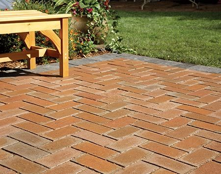 <b>Bury it under pavers</b></br> <p>A concrete slab provides a firm, stable base for pavers. Cover the patio with a thin layer of sand, lay pavers over it, and the results look like a standard paver patio. It's a fairly simple project and the cost is reasonable ($3 to $6 per sq. ft.), but expect a weekend or two of hard labor. For complete step-by-step instructions, see <a href='http://www.familyhandyman.com/patio/how-to-cover-a-concrete-patio-with-pavers/view-all' title='How to Cover a Concrete Patio With Pavers'>How to Cover a Concrete Patio With Pavers</a>.</p>
