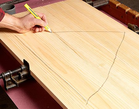 <b>When edge gluing</b></br> <p>Maintain the order of boards you're edge gluing. Lay them out, draw a triangle that marks each board, then disassemble the boards. Now you'll know how they go back together when you glue them up.</p>