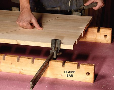 <b>Keep your clamps upright and evenly spaced</b></br> <p>These simple-to-build clamp bars will keep clamps from tipping.</p>