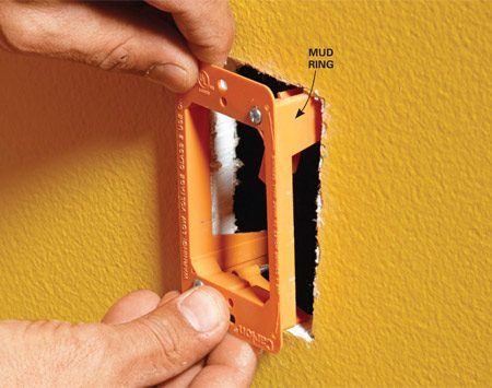 Protect openings when drilling with a flex bit or fishing wire.