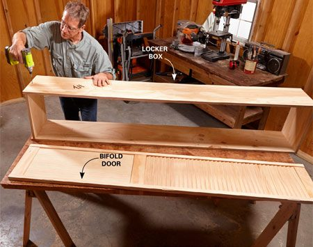 <b>Photo 1: Build a simple box</b></br> <p>Cut the plywood parts and assemble them with trim-head screws. Make sure the box opening is 1/4 in. taller and wider than the door itself.</p>