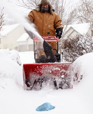 A valuable snow blowing tip: Don't eat the newspaper