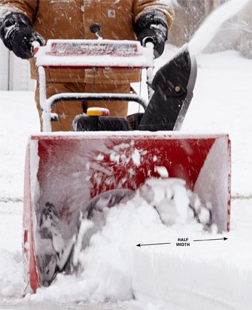 A good snow blowing tip for heavy snow is to take smaller passes.