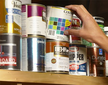 Turn an empty paint can into a secret hiding place.