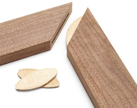 <b>Lock corners together perfectly</b><br/><p>It&rsquo;s not easy to align and clamp miters, especially when they&rsquo;re lubricated with a coat of slippery glue. That&rsquo;s why woodworkers often use biscuits on miter joints even where extra strength isn&rsquo;t needed. Cutting biscuit slots is a minor job that provides major help at glue-up time.</p>