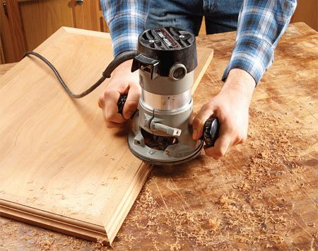<b>Create sharp, perfectly aligned corners</b><br/><p>Shaped moldings can be tough to miter, align and clamp. So make life easier by starting with plain square stock. Then, after assembly, grab your router and shape the edges. The risk with this method is that you&rsquo;ll gouge or splinter parts that are already in place. The best way to avoid disaster is to make a series of shallow passes instead of one full-depth cut.</p>