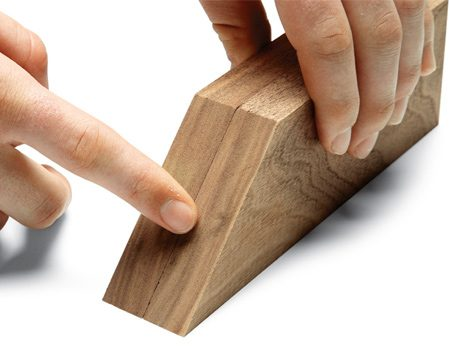 <b>Use your sense of touch</b><br/><p>When you&rsquo;re building a box or frame, the opposite sides have to be exactly the same length. To make sure they are, do the touch test: Set the parts side by side and run your finger over the mitered ends. You may not be able to see a slight length difference, but you&rsquo;ll feel it.</p>