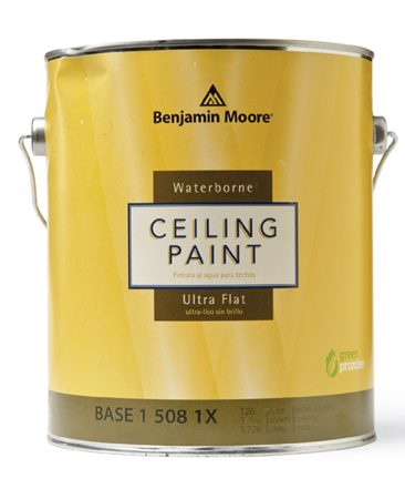 Special ceiling paint is the best choice when you paint a ceiling.