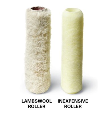 You'll be surprised how much easier it is to paint a ceiling with a lambswool roller.