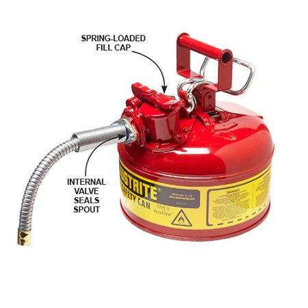 <b>Get a new gas container</b></br> <p>If your gas container doesn't seal properly, you're going to have gas problems. As the air temperature rises and falls, a poorly sealed container emits gas vapors and pulls in moisture. So you lose the most volatile ingredients in the gas — the ones you need most to start a cold engine. Also, the humidity that gets sucked in condenses on the container walls and falls to the bottom. As you reach the gas at the bottom, you're literally pouring in a blend of old gas and water. If your old container is missing caps, buy a new one.</p>