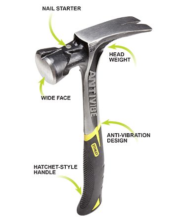 Modern-style hammers have a changed appearance and new or different features.