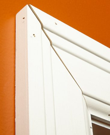 <b>Problem: Joints open when nailed</b></br> Perfect-fitting miters can become misaligned as you nail them to the wall.