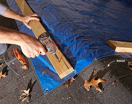 Keep a tarp or two in your home emergency preparedness kit.