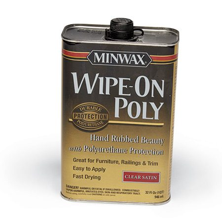 <b>Start with high-gloss poly</b></br> <p>A few coats of semigloss or satin polyurethane looks like a sheet of dull plastic over the wood. So build up coats of gloss poly first. Then, if you want less sheen, dull the finish by wet sanding or wiping on a couple coats of satin or semigloss.</p>