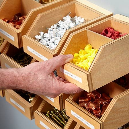 Garage Shelving Plans: Hardware Organizer | The Family