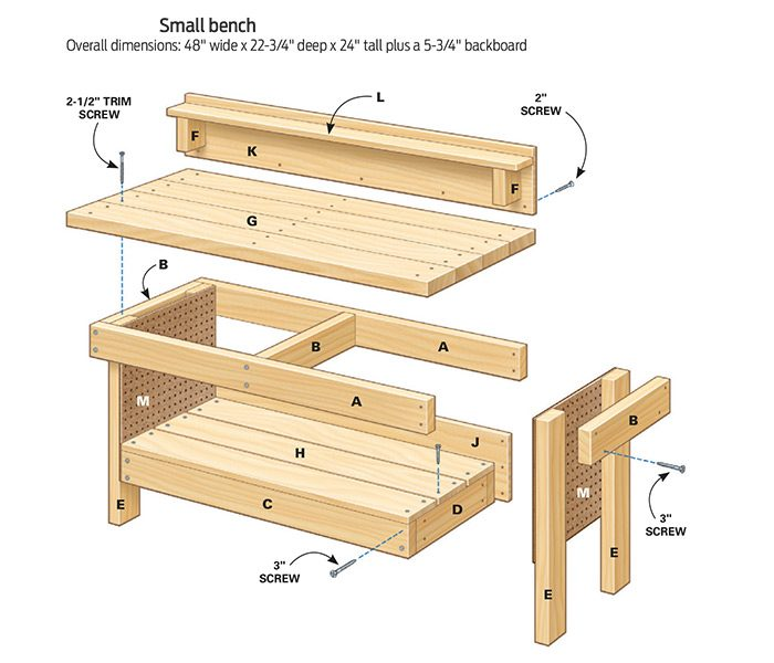 mini classic diy workbench for kids the family handyman