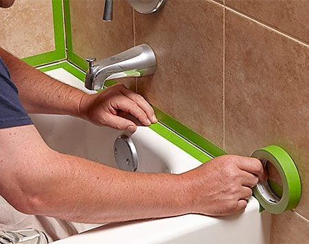 how to re caulk a shower or bathtub the family handyman. Black Bedroom Furniture Sets. Home Design Ideas