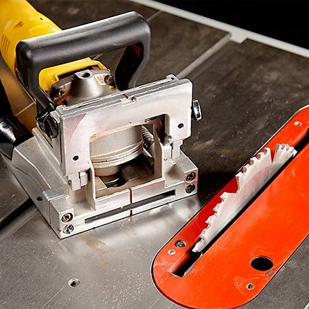 <b>Two power tools</b></br> <p>A table saw and a plate joiner are all the muscle you'll need.</p>
