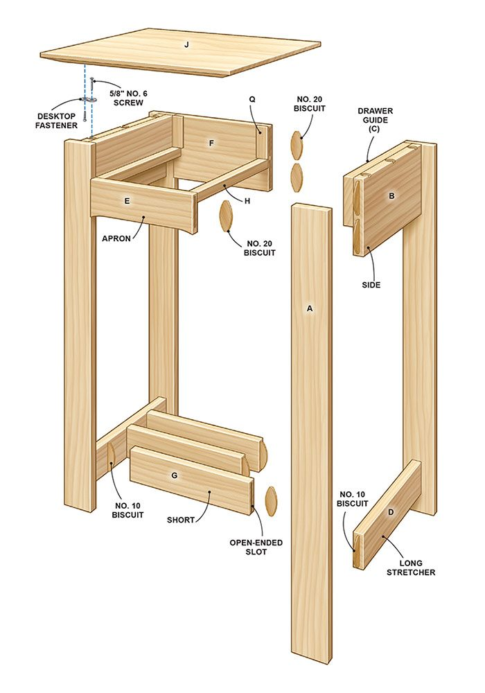Simple Rennie Mackintosh End Table Plans | The Family Handyman