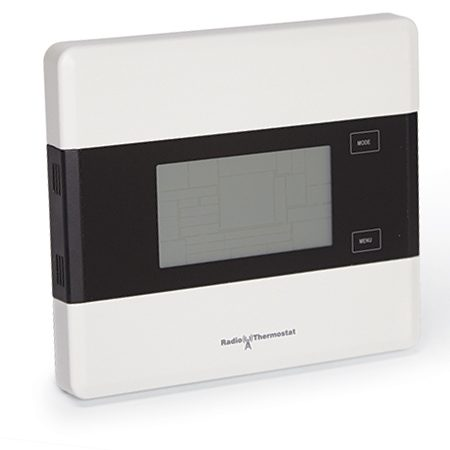 <b>Iris thermostat</b></br> <p>Change temperature settings or program weekly schedules with an Iris thermostat connected to the hub.</p>
