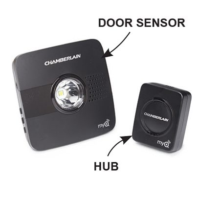 <b>Chamberlain MyQ garage</b></br> <p>Operate an existing garage door opener with a Chamberlain MyQ garage door controller with free MyQ app.</p>