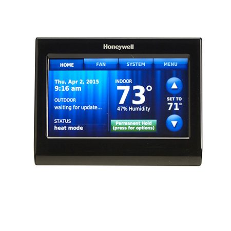 "<b>Honeywell RTH9590WF</b></br> <p>The coolest thing about the <a href=""http://www.amazon.com/gp/product/B00EJIYUUU/ref=as_li_tl?ie=UTF8&camp=1789&creative=390957&creativeASIN=B00EJIYUUU&linkCode=as2&tag=familhandy-20&linkId=2DBUA5SOOSKFKWVL"">Honeywell Wi-Fi Smart Thermostat with Voice Control</a> is that it works with voice recognition. Just speak your commands to the thermostat and it'll raise or lower the temperature. Or use the app and control it from your smart device.</p>"