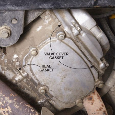 <b>Use a clean rag</b></br> Oil leaks from the valve cover and head gaskets can cost plenty ($150 and $300). So check those areas before you buy. Wipe a clean rag around the head and valve cover gaskets. If the rag shows fresh oil, the gaskets need replacing.