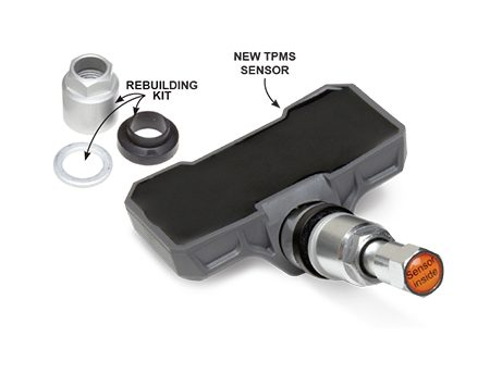 <b>Rebuild or replace your TPMS sensors</b></br> <p>Starting in September 2007, all carmakers were required to install a tire pressure monitoring system (TPMS) that warns you when tire pressure falls to 75 percent of the recommended pressure. The TPMS sensors are either part of the valve stem assembly or strapped around the rim inside the tire.</p> <p>To avoid damaging the valve stem sensor when changing tires, many shops remove the sensor. If the sensor is out, it pays to rebuild it with a new seal and torque nut. Shops charge $10 each to rebuild the sensor, and we think it's a worthwhile service. However, the batteries in tire pressure sensors have only a seven to 10-year life. If the TPMS sensors in your vehicle are approaching the end of their battery life, you may want to skip the rebuild and have the shop install new sensors for about $40 each (the batteries can't be replaced).</p>