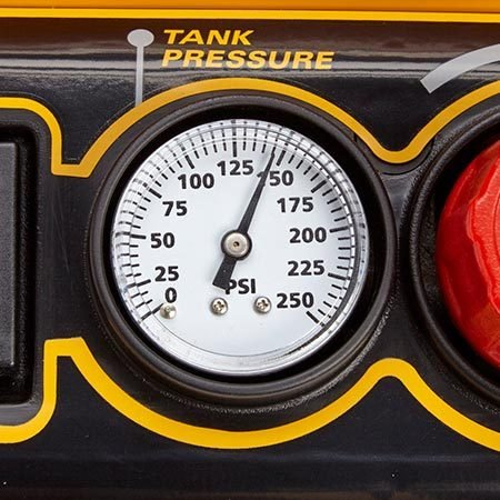 <b>Psi usually isn't a factor</b></br> Most compressors provide plenty of pressure for DIY tools and tasks. In that sense, the pounds per square inch (psi) isn't much of an issue. But a higher max psi does have one real benefit: It allows a smaller tank to hold more air and perform like a bigger tank. A 2-gallon tank at 150 psi, for example, holds as much air as a 3-gallon tank at 100 psi.