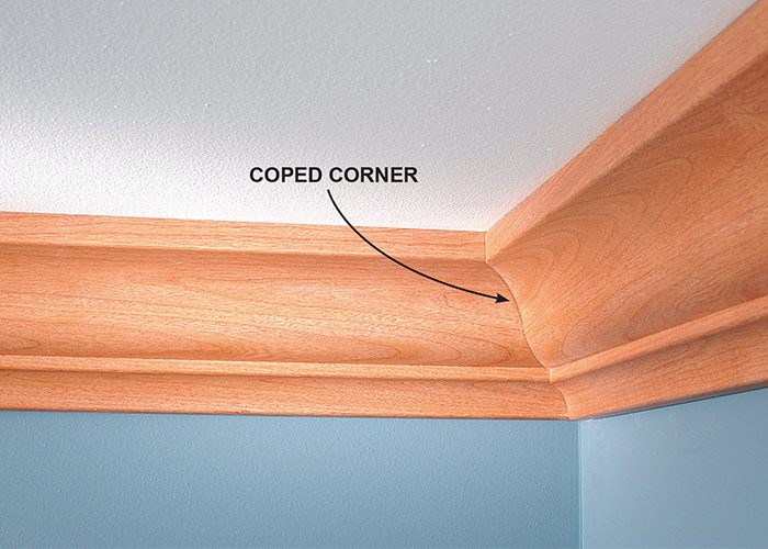 <p><b>Why do it?</b></p> <p>A coped corner fits tightly, even if the walls are out of square (and they usually are). Coped trim also stays tight—even when the wood shrinks, the walls shift or the vacuum cleaner whacks it.</p>