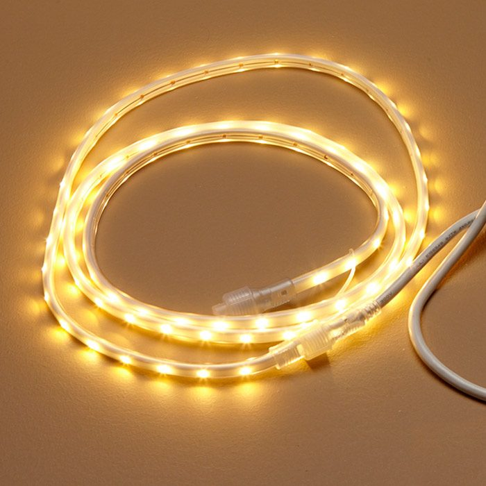 <p><b>LED rope lighting:</b> The cheapest option by far is to install an LED rope light. Rope lights are not low-voltage, and they can be run long distances and dimmed with a regular dimmer. On the downside, they cannot be cut to size or split off in more than one direction; it's harder to direct the light; and the light is about onethird as bright and tends to be a little blotchy depending on where it's placed. Rope lighting would also require a receptacle behind the cove. $2.75 per ft. for 13 ft.</p>