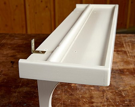 <b>A wood strip makes it a plate rack</b></br> <p>Tack a piece of molding to the top of the shelf to keep plates from sliding. Experiment with your plates to find the best location for the molding.</p>