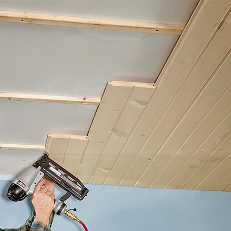 <b>Stagger butt joints</b></br> <p>There's no reason to try to join butt joints directly over framing members. They can fall anywhere because the tongue-and-groove joints support one another. Plus, if you cut the boards so they fall directly over framing, you'll waste a lot of material. Instead, choose lengths so the joints look as random as possible.</p>