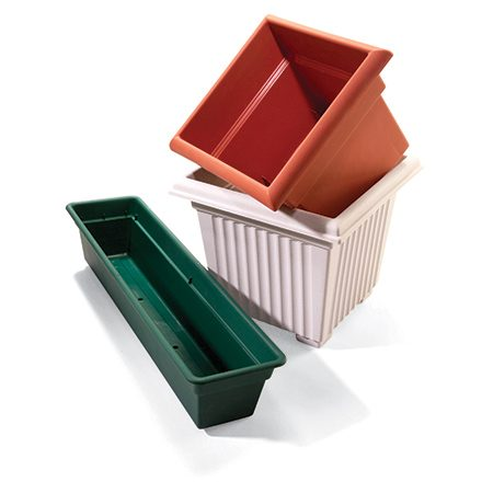 <b>Plastic planters are perfect</b></br>