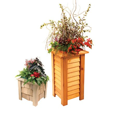 <b>Customize it!</b></br> <p>This planter is basically a plywood box with legs that fit over each corner. That simple structure allows you to easily change the size, shape or look while following the same building steps. For example, you can cover the box with siding or wood shingles. You can coat your planter with paint, stain or a clear finish.</p>