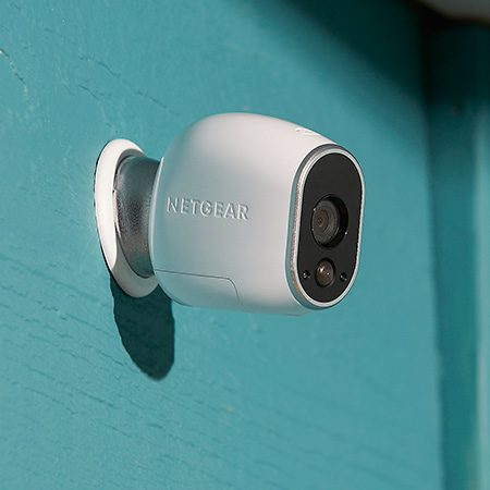 <b>1: Wireless</b></br> <p>If you don't want to snake wires through walls or be limited by the location of electrical outlets, consider a fully wireless camera like the Arlo by NETGEAR. This little camera is small but big on features! It has a built-in magnet so you can stick it on the side of a metal object or attach it to a metal ball mount (included). Video recordings are motion activated and get stored on a cloud server, and the camera sends app alerts or emails to you with links to the video. You can also stream live video on your smartphone, tablet or computer.</p>  <p>The camera is powered by four nonrechargeable lithium batteries that last four to six months. It comes with a base station that you plug directly into your Internet modem, or you can buy additional cameras for $160 each and pair them with your existing base station. Sets of one or more cameras complete with base station are available for $180 to $650. Wireless outdoor cameras from other makers range from $80 to $200.</p>