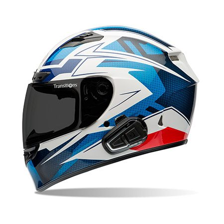 <b>BELL Qualifier DLX</b></br> <p>The BELL Qualifier DLX street helmet is a few steps up from an entry-level helmet but provides a lot of bang for the extra bucks. At $250, this full-face helmet includes a photochromic face shield with anti-scratch, antifog and UV coatings, adjustable ventilation, a padded wind collar to reduce wind and road noise, and speaker pockets so you can add a Bluetooth headset and intercom. DOT certified.</p>