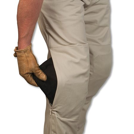 <b>Protekt Khaki Pants</b></br> <p>Protekt Khaki Pants offer protection and comfort. Just unzip the knee zippers, slide in some Transit Impact Armor knee guards, and ride off to work or play. Then remove the guards and enjoy the rest of the day without changing clothes. The 100 percent cotton twill khaki pants have a triple-layer knee and seat area that includes a hidden 500D Cordura middle layer for abrasion resistance and an inner cotton liner for comfort.</p>