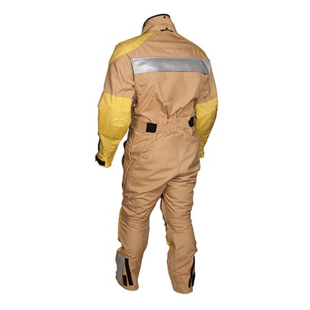 <b>R-3 riding suit</b></br> <p>The R-3 riding suit lets you ride in comfort, be seen by other drivers and be protected. Just slip it over your street clothes. The R-3 is waterproof and unlined. For protection, it's built with a double layer of 500D Cordura GORE-TEX fabric across the seat and added 1000D abrasion-resistant layers covering the elbow/shoulder/knee areas. Underneath the layers is energy-absorbing removable oversized TF Impact Armor. Optional hip, spine and chest armor increase the R-3's capabilities. The R-3 is available in six colors.</p>