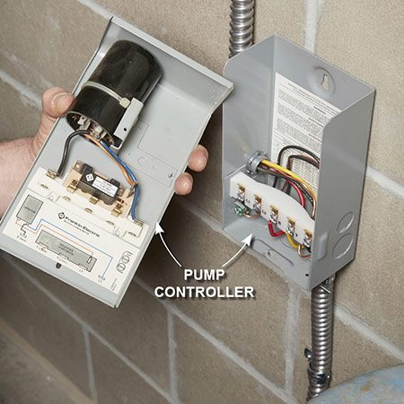 <b>Replace the pump controller</b></br> Remove the screw at the bottom of the pump control cover and lift it off the box to disconnect it. Take it to the store and buy an exact replacement. Snap the new cover onto the old box (no need to rewire if you buy the same brand). Then start the pump.