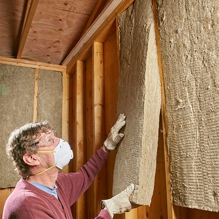 <b>Mineral wool batts are rigid</b></br> <p>Unlike fiberglass batts, mineral wool batts hold their shape. That makes them easier to handle and easier to install. They don't flop over or need fluffing up like fiberglass.</p>
