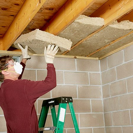 <b>Batts stay put, even on ceilings</b></br> If you've ever installed fiberglass batts on ceilings, you know that they'll fall out if you don't add support. Not so with mineral wool batts. Just push them into place and walk away.
