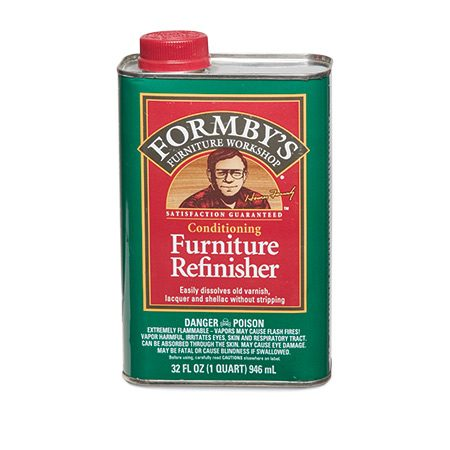 "<b>If you're just removing clear finish</b></br> <p>Just about any stripping product will remove clear finishes, but products labeled ""refinisher"" do it faster and are less likely to remove stain. Refinishers contain a mixture of solvents like methanol, acetone and toluene, and dissolve clear finishes like lacquer and shellac in minutes. Don't use them for stripping paint. Follow the same safety precautions you would for methylene chloride. $15 per quart.</p>"