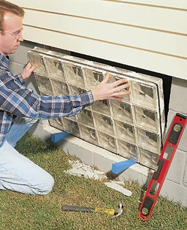 Installing Glass Block Basement Windows The Family Handyman