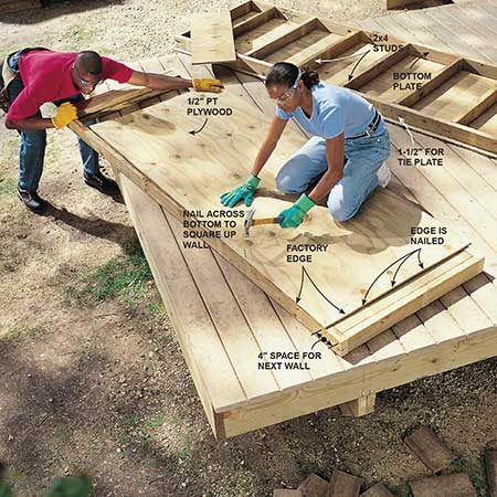 Build the planter walls on the deck.