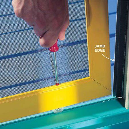Sliding Screen Door Repair Tips The Family Handyman