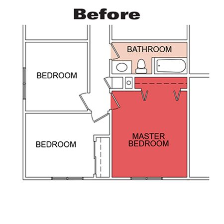 Bathroom and bedroom before remodeling.