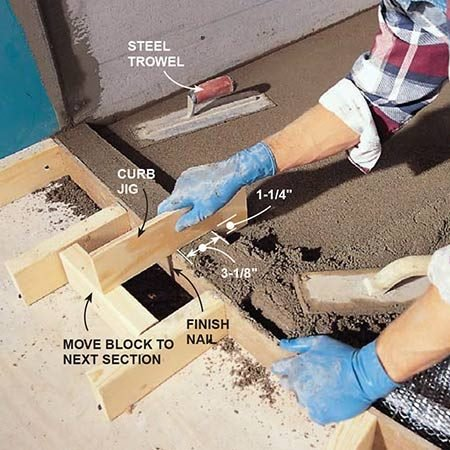 Build the curb for the shower pan by packing mortar over the lath.