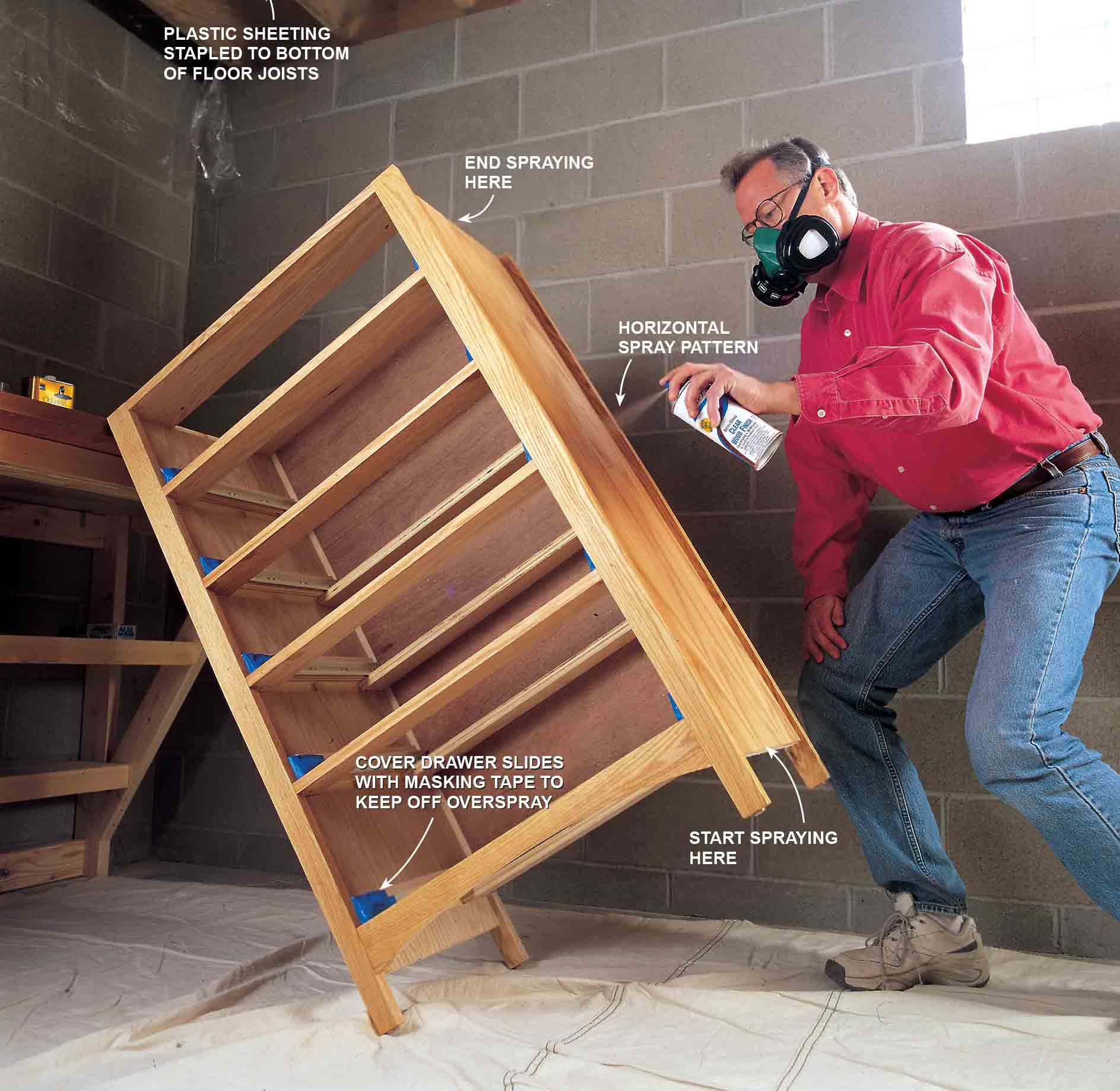 Photo 6 explains how to finish stained furniture.